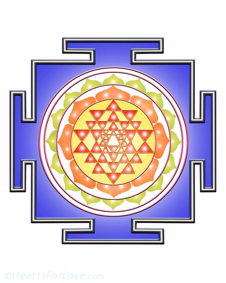 Shree Yantra, auspicious and powerful chakra mandala