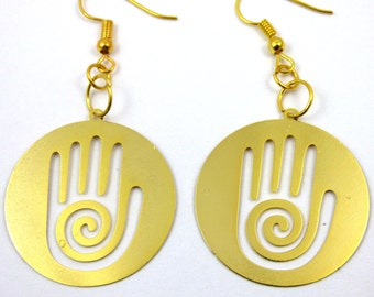 Reiki Earrings Gold Plated  'Buy One and Get Another Design for Free'  ER-13