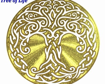 Celtic Tree of Life Gold Plated Grid YA-60-sm