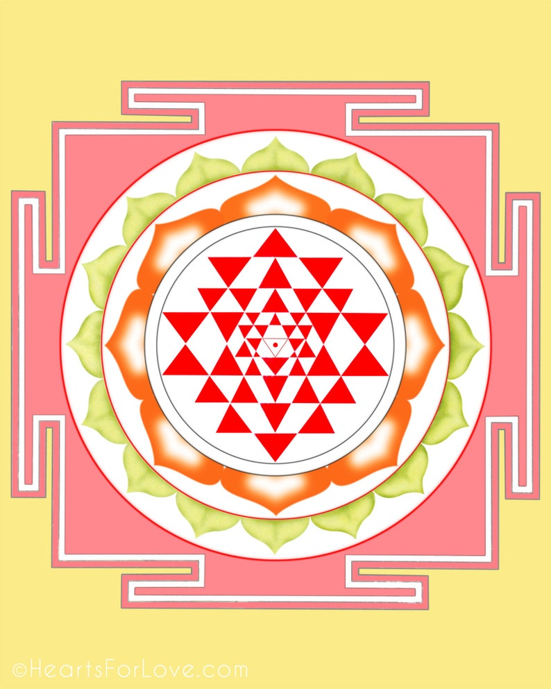 Shree Yantra, one of the most auspicious, important and powerful yantras