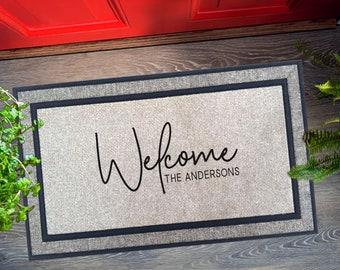 Personalized Doormat, Wedding Gift, Custom Welcome Mat, Door Mat, Summer Decor, Newly Weds Gift, Housewarming Gift, Funny Doormat, Porch