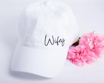 Bride Hat Wifey Hat Wifey Baseball Hat Bride Hat Bachelorette Honeymoon Gift Bride to Be Bride Gift Bridal Shower Gift