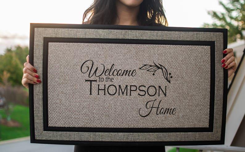 Custom Doormat Personalized Doormat Door mat Personalized image 0