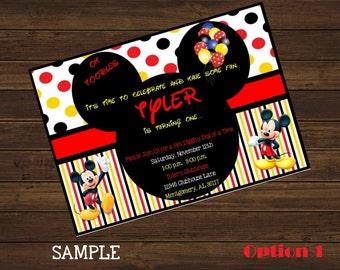 Mickey Mouse Birthday Invitation, Oh Toodles, Printable Invitation