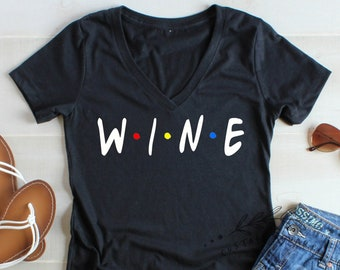 92b8c90c Wine Friends Shirt, Friends TV Show Shirt, Partners In Wine Shirt Wine  Tasting Friends Funny Wine Drinkers Shirt Best Friends Shirts