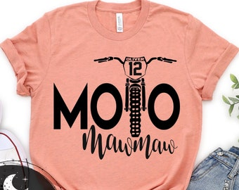 Moto MawMaw Personalized Dirt Bike Shirt, Add Your Rider Name and Number to the Bike Unisex Short Sleeve V-Neck or Long Sleeve Race Shirt