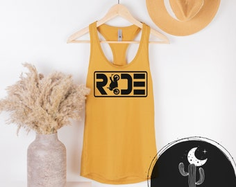 Ride with Street Bike Motorcycle Ladies Tank Top or Scoopneck or V-Neck Shirt, Motorcycle Street Bike Riding Shirt