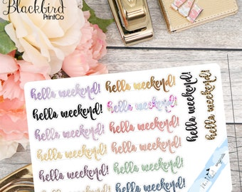 Weekend Banners for Personal Planners - Patterned [FR0011]