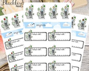 Walking - Hand Drawn Planner Stickers [HF0005]