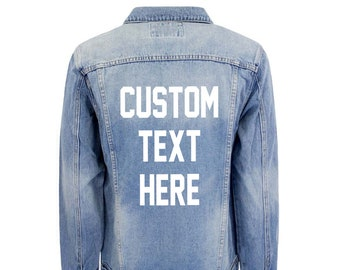 Denim Jacket Men Etsy