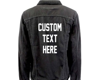 Custom Denim Jacket Etsy