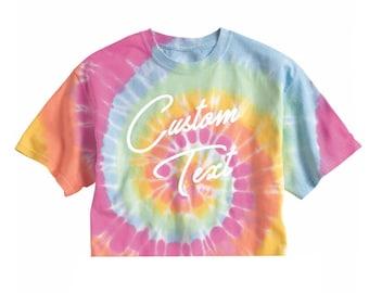 50e072f6f4513 Tie dye crop top | Etsy