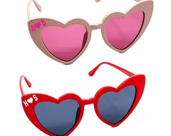 ea7af11658 CUSTOM INITIALS Heart Sunglasses- Customize Wedding Bridal I Heart Glasses-  Love Womens Shades- Bachelorette Mrs Sunglasses- Heart Shaped