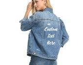 Custom Denim Jacket, Jean Jacket, Personalized Gift for Mom from Daughter,