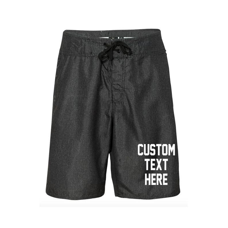 10caa597e1 CUSTOM TEXT Men's Swim Shorts Design Your Own Mens Board | Etsy