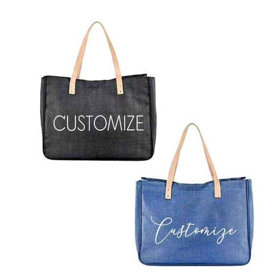 Bachelorette Bag CUSTOM ANY COLOR Large Canvas Tote Beach Bag Reusable Fun Tote Design Your Own oversized Bag Bridesmaids Canvas Bag