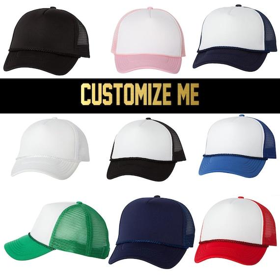 CUSTOM TEXT Five Panel Foam and Mesh Trucker Hat Custom  65009113bf4