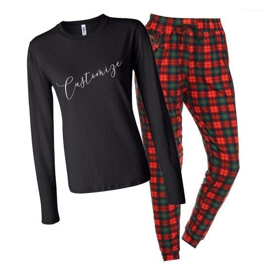 Petites initiales Pyjama Set personnalisé de haut de pyjama Femme Femmes Personnalisé Mariage Rose