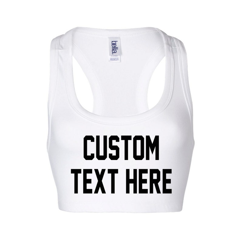Custom Sports Bras >> Custom Sports Bra Bralette Customized By You Personalize Or Etsy