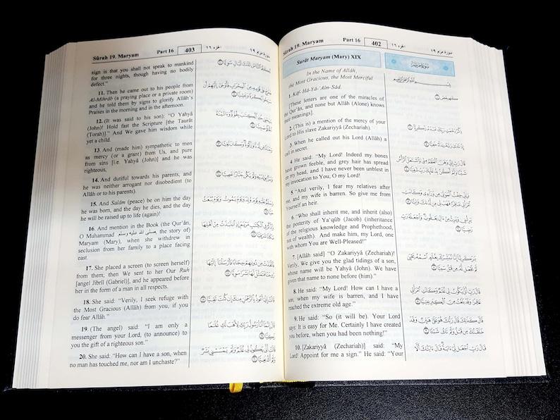 The holy Quran  Arabic text  English translation  King Fahad printing in  Madinah