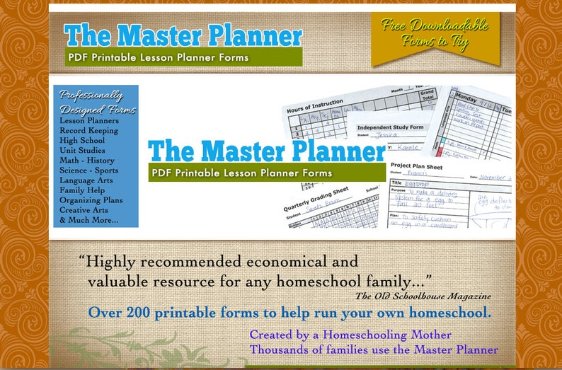 photo relating to Free Printable Homeschool Record Keeping Forms named The Discover Planner - 160 PDF Homeschool Styles for Historical past Preserving, Coaching, Homeschooling and further.
