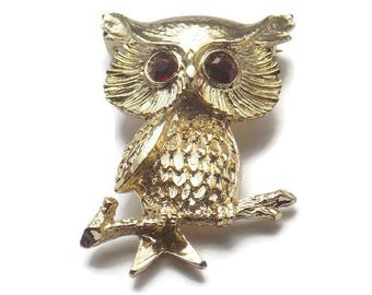 Pair of Owl scatter pinbrooches designer signed gerry/'s free shipping U.S only