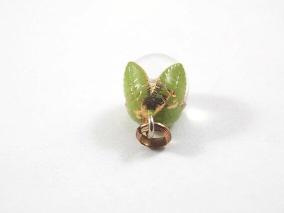 Small Crystal Pools of light Enamel Leaf Pendant,… - image 3