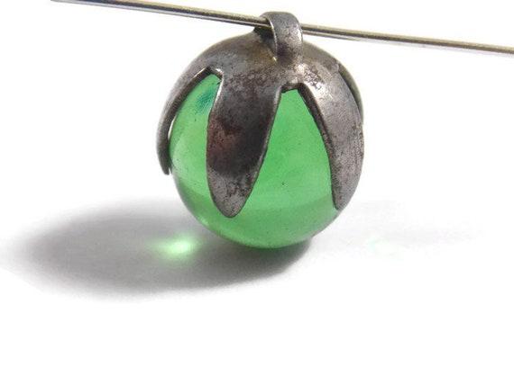 Green Pools Of Light Silver Tone Pendant, Green PO