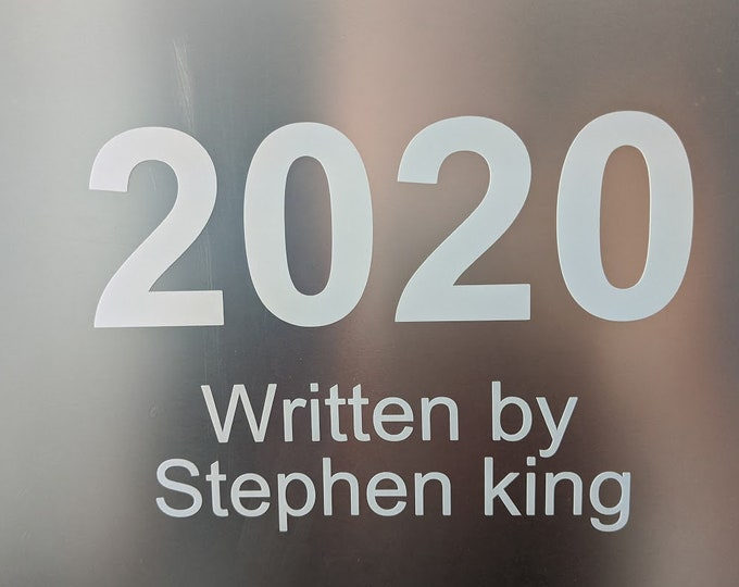 2020 written by vinyl decal sticker