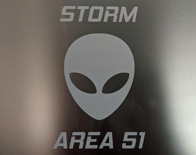 Storm Area 51 vinyl decal sticker