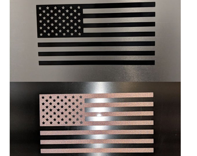 American Flag Reflective vinyl decal sticker