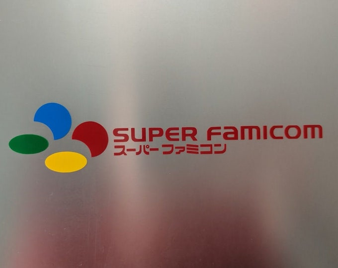 Super Famicom vinyl decal logo