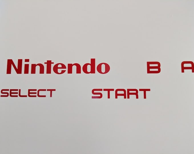 Nintendo Table or wall controller Start Select B A decal stickers