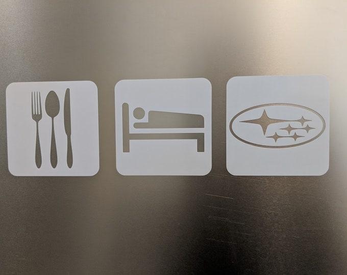 Eat sleep Subaru vinyl decal sticker