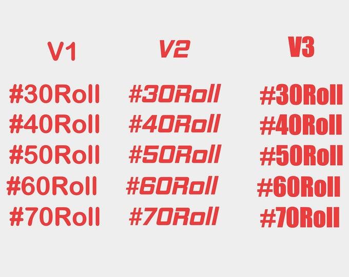 Roll racing vinyl decal sticker
