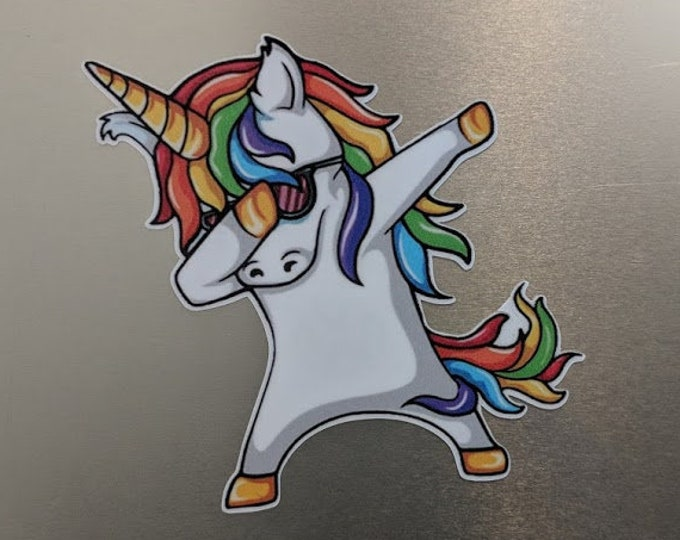 Rainbow Unicorn Custom printed vinyl decal sticker