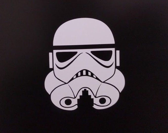 Storm Trooper helmet vinyl decal sticker