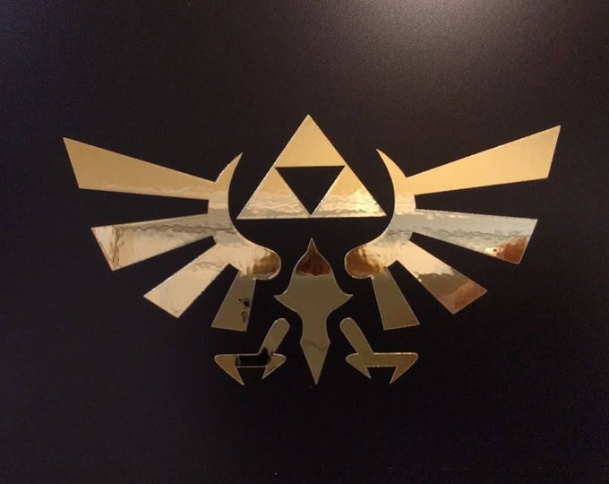 Nintendo Zelda Triforce Hyrule crest Vinyl Sticker Decal