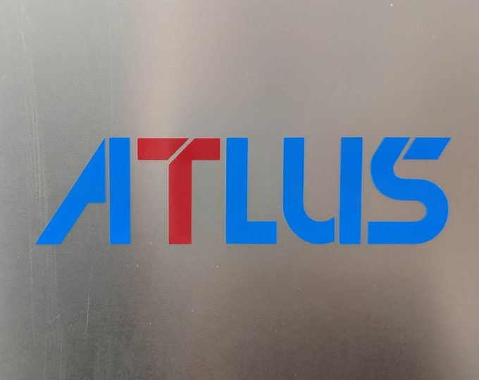 ATLUS video game logo vinyl decal sticker