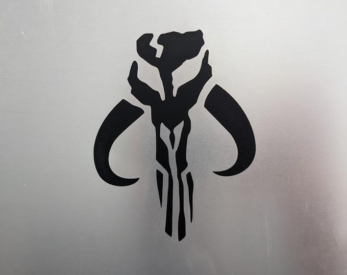 Mando Skull vinyl decal sticker