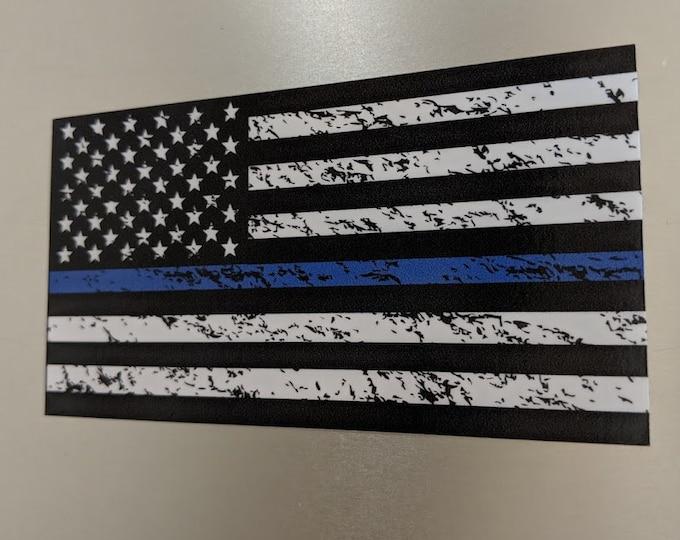 Blue line American Flag Printed Vinyl decal sticker