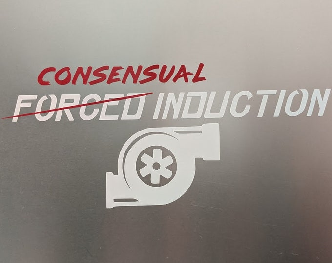 Consensual Induction Turbo Vinyl decal sticker