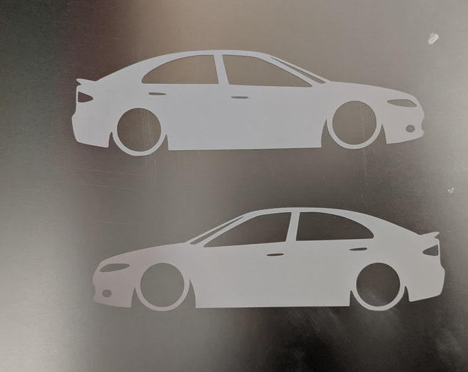 Mazda6 Mazda 6 vinyl decal sticker - One left and one Right facing ( 2 total)