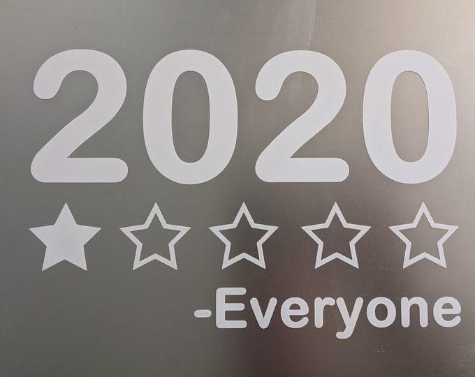 2020   1 star everyone vinyl decal sticker
