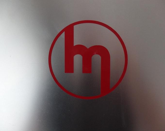 "Mazda 1960's logo ""M"" inside circle vinyl decal sticker"