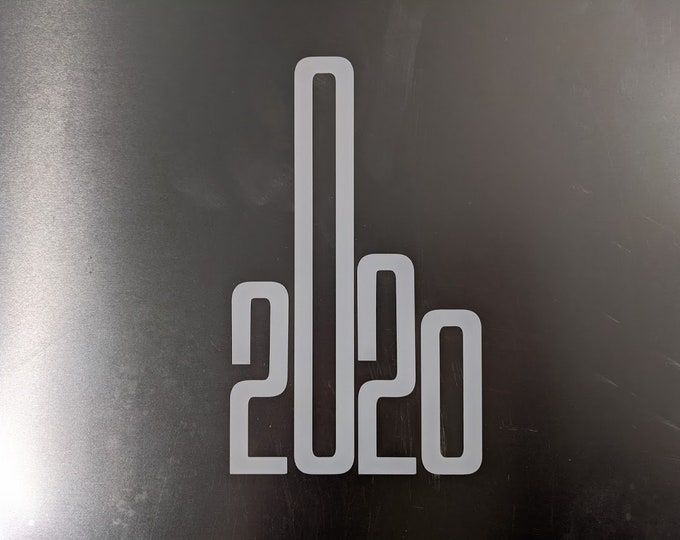 2020 Middle finger vinyl decal sticker