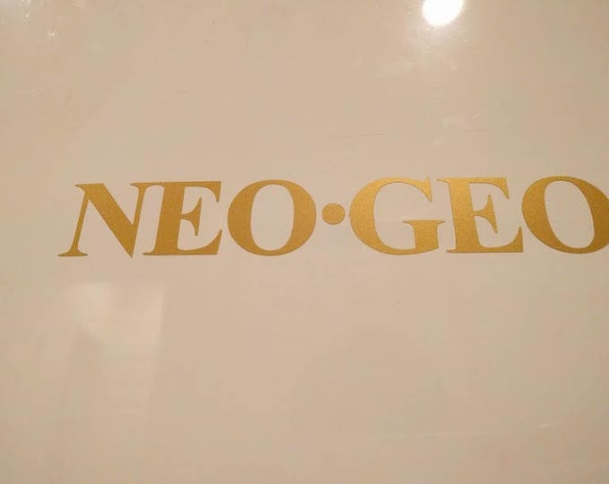 Neo Geo Vinyl Decal Sticker
