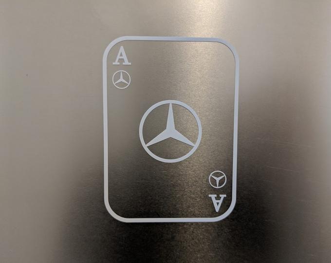 Ace of Mercedes card Vinyl Decal Sticker
