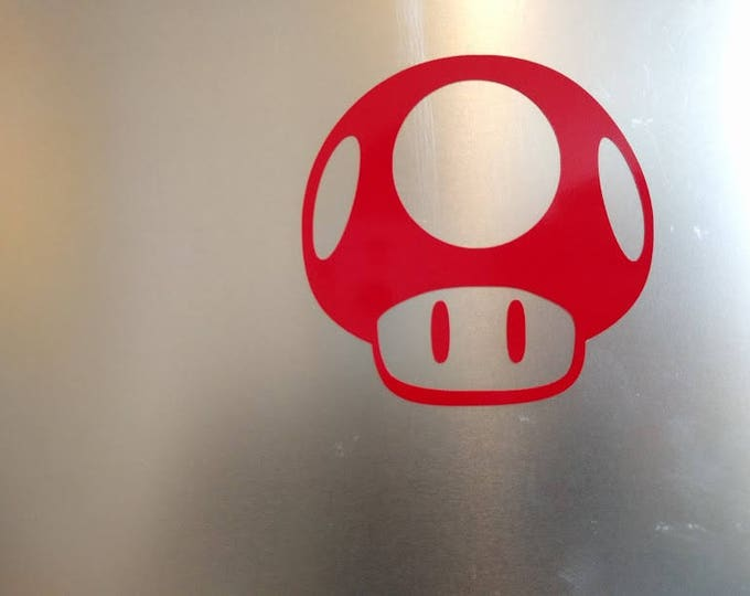 Mario Mushroom Vinyl Decal Sticker