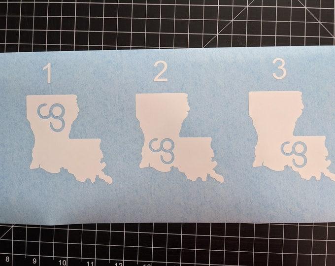 Louisiana cg vinyl decal sticker